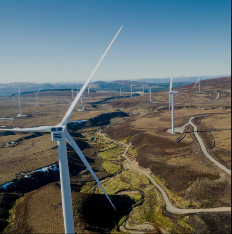 We're using 100% renewable energy from the Moy Wind Farm in Scotland